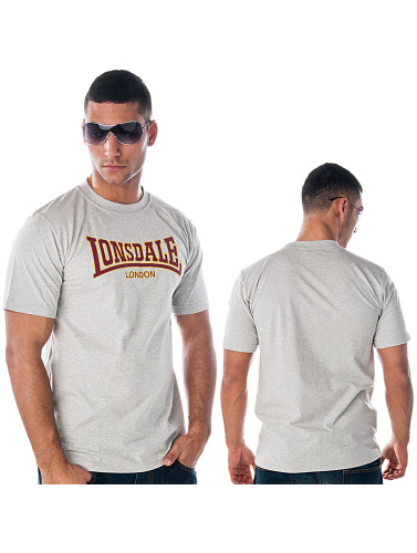 Lonsdale London Herren T-Shirt Classic Slim Fit in grau