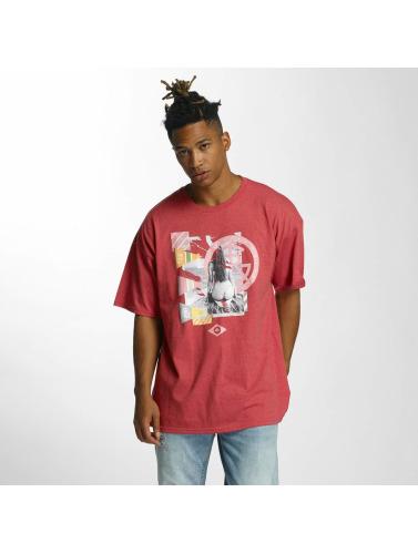 LRG Hombres Camiseta I Love My Beaches in rojo