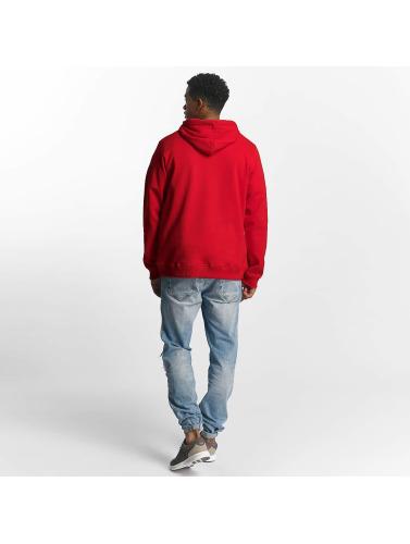 LRG Hombres Sudaderas con cremallera Logo Mac in rojo