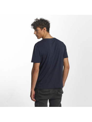 Mavi Jeans Hombres Camiseta Printed Pocket in índigo