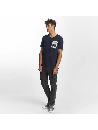 Mavi Jeans Hombres Camiseta Printed Pocket in índigo