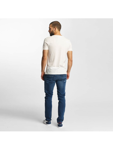 Mavi Jeans Hombres Camiseta Printed in blanco