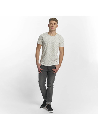 Mavi Jeans Hombres Camiseta Overall Printed in gris