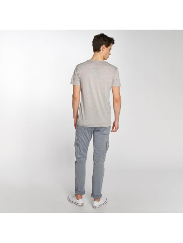 Mavi Jeans Hombres Camiseta Lion Embroidered in gris
