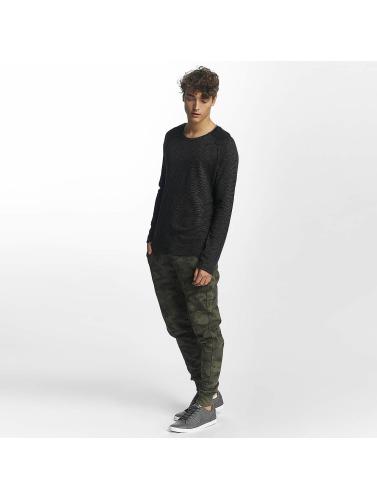 Mavi Jeans Herren Longsleeve mjLong in schwarz