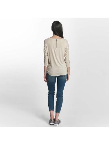 Mavi Jeans Damen Longsleeve Basic Zip in weiß