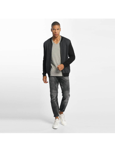 Mavi Jeans Herren Strickjacke Zip Up in grau