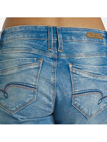 Mavi Jeans Mujeres Vaqueros pitillos Adriana Ankle in azul
