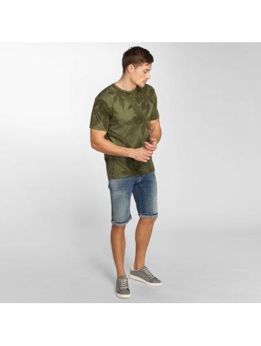 Mazine Hombres Camiseta Keyser Allover in oliva