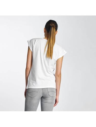 Merchcode Mujeres Camiseta Lady Gaga Hat in blanco