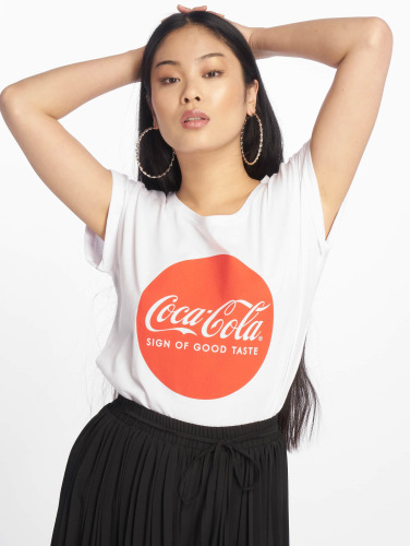 den billigste online Merchcode Kvinner Coca Cola Logo I Hvitt Runde klaring kostnads VddYNhZL