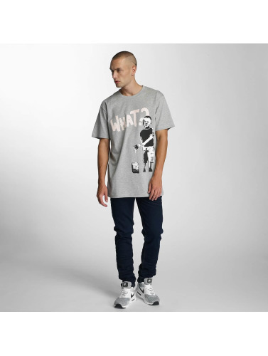 Merchcode Hombres Camiseta Banksy What Boy in gris