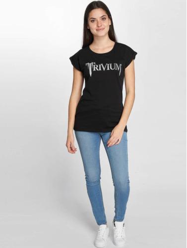 Merchcode Mujeres Camiseta Trivium Logo in negro