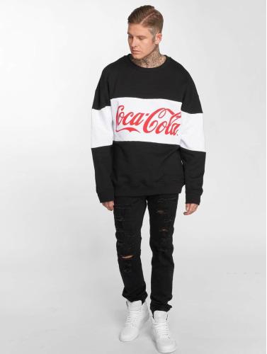 Merchcode Hombres Jersey Coca Cola Stripe Oversized in negro