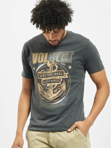 Merchcode Herren T-Shirt Volbeat Seal The Deal in grau