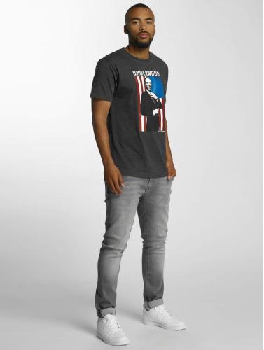 Merchcode Herren T-Shirt House Of Cards Contrast Flag in grau