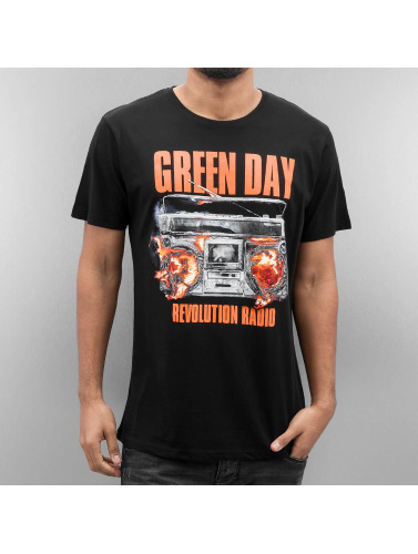 Merchcode Herren T-Shirt Green Day Radio in schwarz