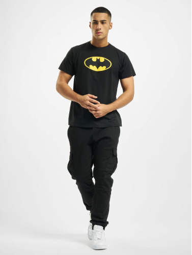 Merchcode Herren T-Shirt Batman Logo in schwarz