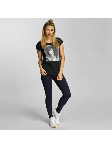 Merchcode Damen T-Shirt Alicia Keys Natural in schwarz