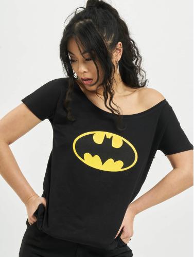 Merchcode Damen T-Shirt Batman Logo in schwarz