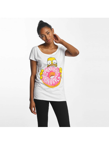 Merchcode Damen T-Shirt Simpsons Donut in weiß