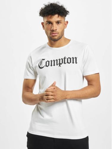Mister Tee Hombres Camiseta Compton in blanco