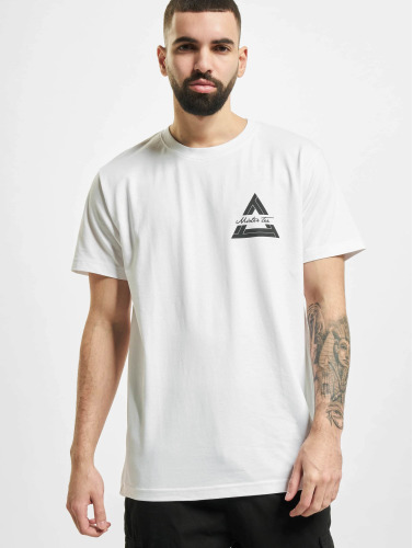 Mister Tee Hombres Camiseta Triangle in blanco