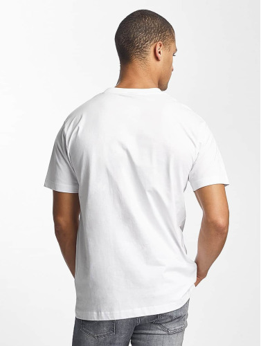 Mister Tee Hombres Camiseta PEACE in blanco