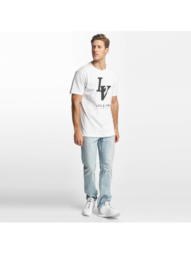 Mister Tee Hombres Camiseta Love Vibes Only in blanco