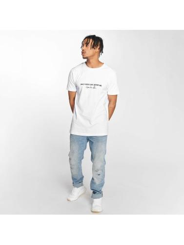 Mister Tee Hombres Camiseta Tupac Cross in blanco