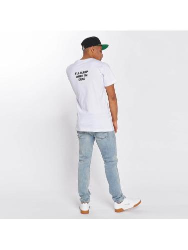 Mister Tee Hombres Camiseta I`ll Sleep When I`m Dead in blanco