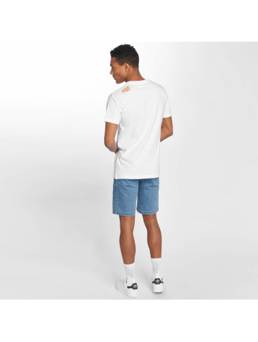 Mister Tee Hombres Camiseta Collab 2.0 in blanco