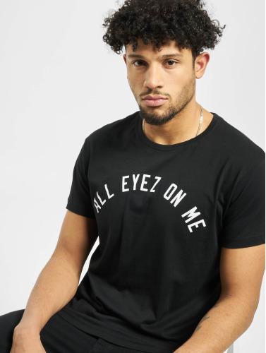 Mister Tee Hombres Camiseta 2Pac Eyez Long in negro