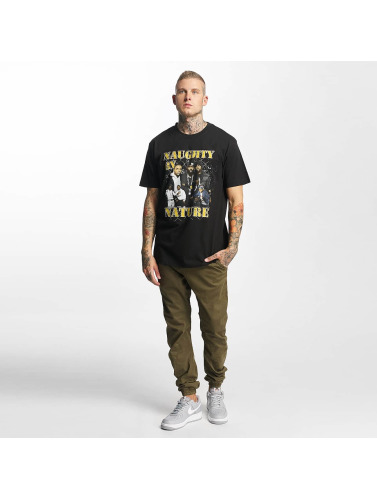 Mister Tee Hombres Camiseta Naughty by Nature 90s in negro