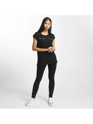 Mister Tee Mujeres Camiseta PEACE in negro