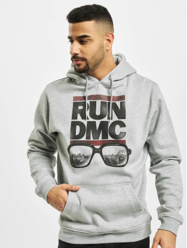 Mister Tee Herren Hoody Run DMC City Glasses in grau