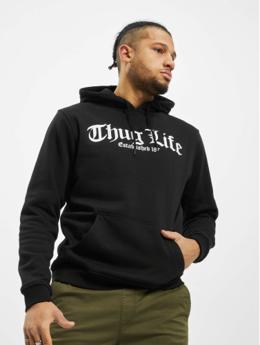 Mister Tee Herren Hoody Thug Life Old English in schwarz