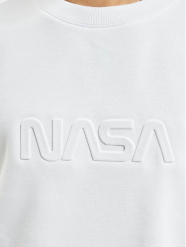 Mister Tee Hombres Jersey Embossed NASA Worm in blanco