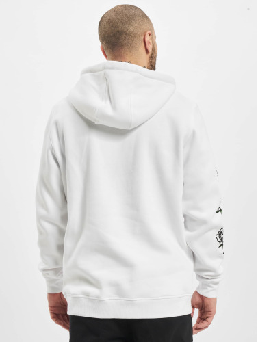 Mister Tee Hombres Sudadera Push Me in blanco