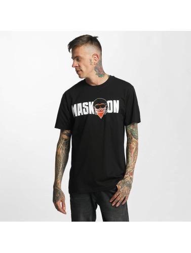Mister Tee Herren T-Shirt Mask On Mask Off in schwarz