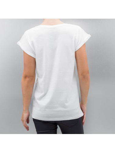 Mister Tee Damen T-Shirt Ladies John Lennon Pictures in weiß