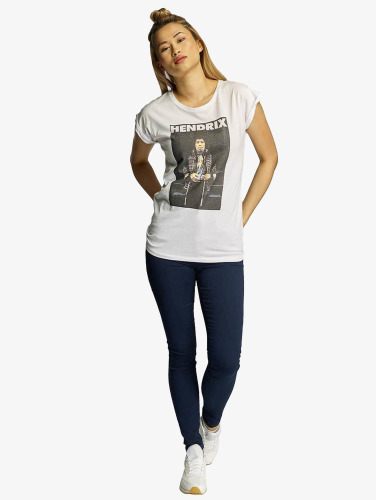 Mister Tee Damen T-Shirt Jimmy Hendrix in weiß