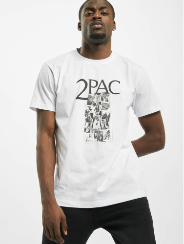 Mister Tee Herren T-Shirt Tupac Collage in weiß