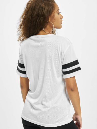 Mister Tee Damen T-Shirt 2Pac Stripes in weiß
