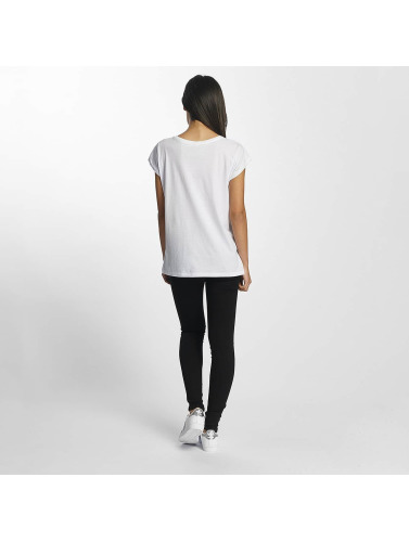 Mister Tee Damen T-Shirt Wake Up in weiß