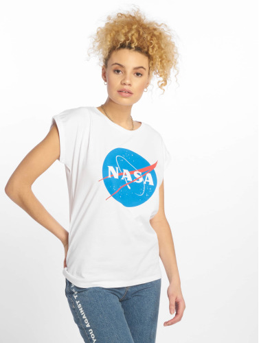 Mister Tee Damen T-Shirt NASA Insignia in weiß