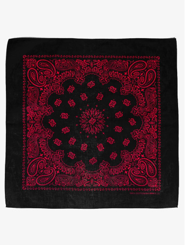 MSTRDS Bandana Red Lines in schwarz