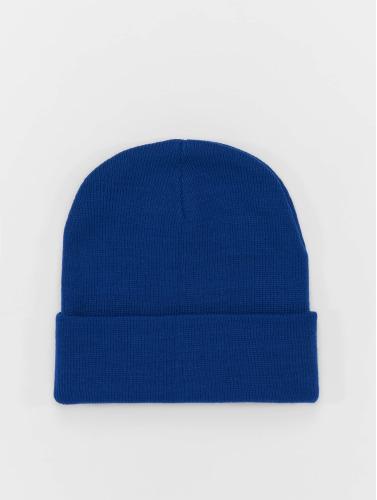 MSTRDS Beanie Basic Flap in blau