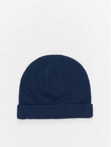 MSTRDS Beanie Short Cuff Knit in blau