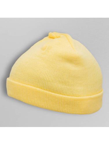 MSTRDS Beanie Short Pastel Cuff Knit in gelb